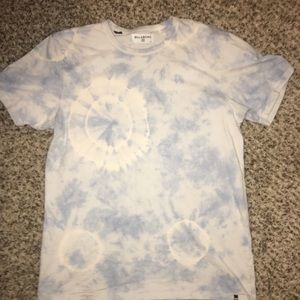 Billabong men's blue tie-dye T-shirt size large